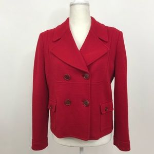 Tory Burch Blazer Peacoat Casual Jacket Red Large